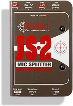 Radial JS2 Microphone Splitter