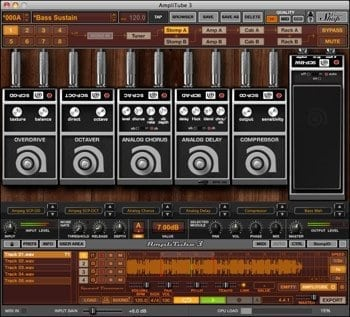 IK Multimedia Ampeg SVX Bass and Amp Effects Sofware Screenshot