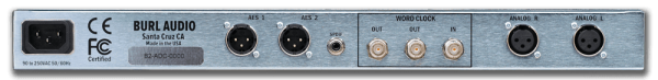 Burl Audio B2 Bomber - 2 Channel AD Converter Rear Mode