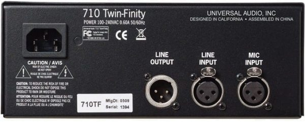 Universal Audio 710 Twin-Finity Tube & Solid State