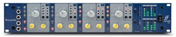 Focusrite ISA428 MkII Four-Channel Mic Preamp Front Mode