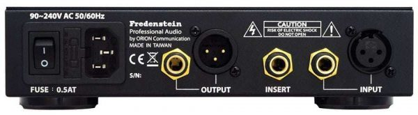 Fredenstein V.A.S. Microphone Preamp Rear Mode