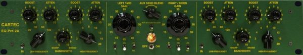 Cartec Audio Pre-EQ-2A Dual Channel Pre amp and EQ