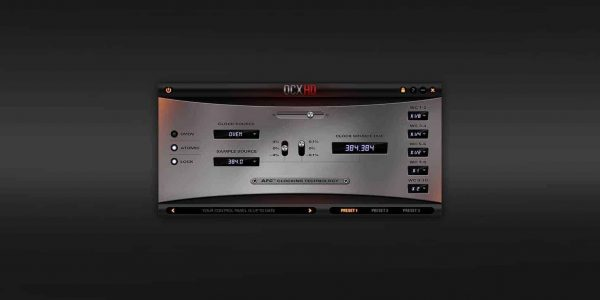 Antelope Audio OCX HD 768 kHz HD Master Clock Screenshot