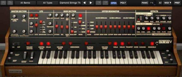 Arturia Solina V Virtual Synthesizer Screenshot