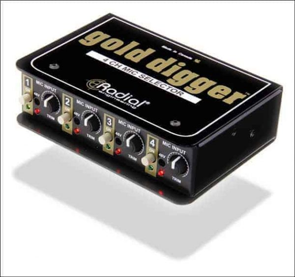 Radial Gold Digger 4-Channel Mic Selector