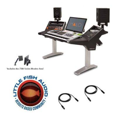 Argosy Halo Ultimate K-XL-B-S Studio Workstation + 15' Mogami XLRs