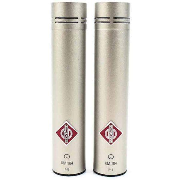 Neumann KM 184 Stereo Pair Nickel Cardioid Studio Microphone