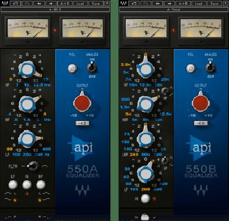 Waves 550A & B Native 3 Band Equalizer