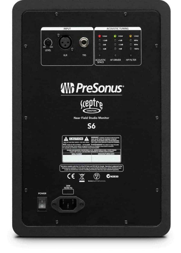 """PreSonus Sceptre S6- 2-way 6.5"""" Coaxial Near Field Studio Monitor-13717"""