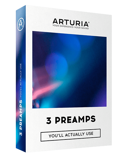 ARTURIA 3 Preamps You`ll Actually Use Box