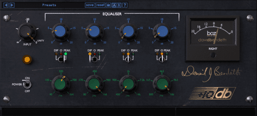BOZ DIGITAL Boz +10dB Equalizer interface