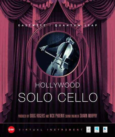 EAST WEST HOLLYWOOD CELLO GOLD Hollywood Solo Cello Gold box