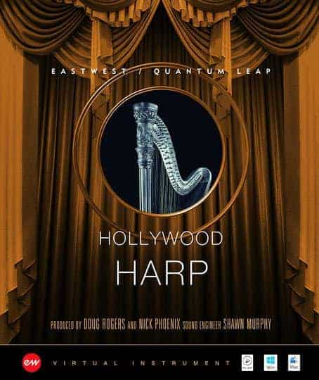 EAST WEST HOLLYWOOD HARP GOLD Hollywood Solo Harp Gold box