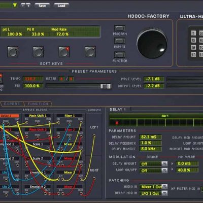Eventide H3000 Factory interface