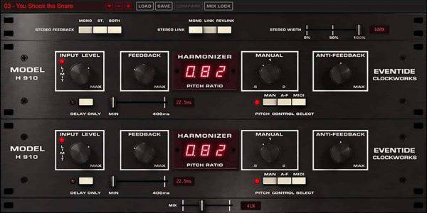 Eventide H910 Harmonizer interface