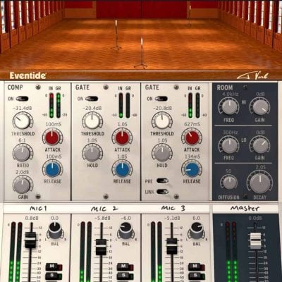 Eventide Tverb interface