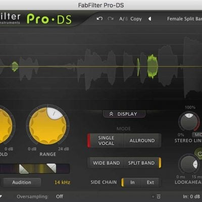 FabFilter Pro-DS Interface