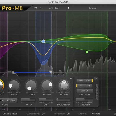 FabFilter Pro-MB Pro multi-band compressor & expander Interface