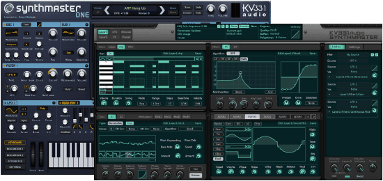 KV331 Audio KV SynthMaster+SynthM One Synthmast + Synthmaster One interfaces