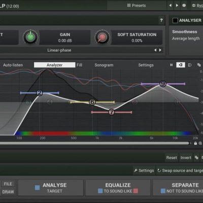 MELDA MAutoEqualizer Interface