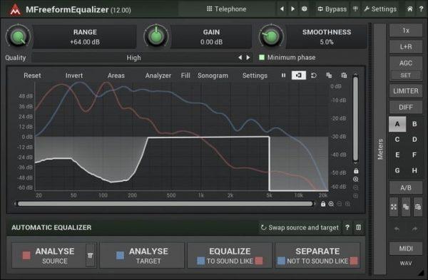 MELDA MFreeformEqualizer Interface
