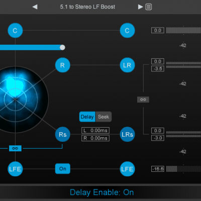 NUGEN Audio Halo Downmix Solution for downmixing of feature film interface