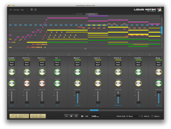 RE-COMPOSE Liquid Notes interface