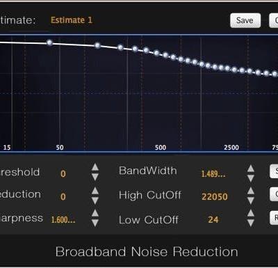 SONIC STUDIO Sonic Studio NoNOISE 3 interface