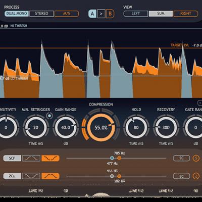 Sound Radix Drum Leveler interface