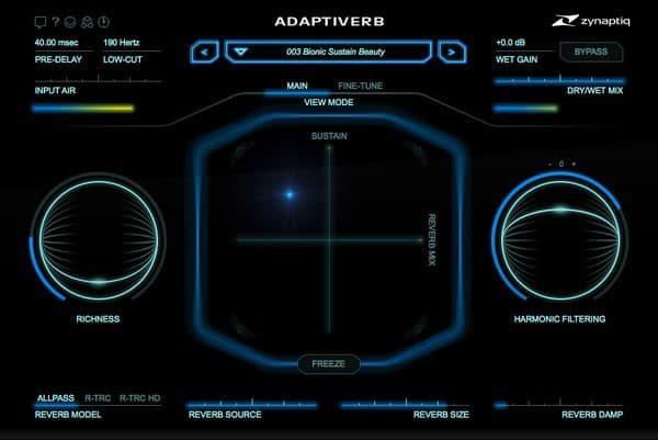 ZYNAPTIQ ADAPTIVERB interface