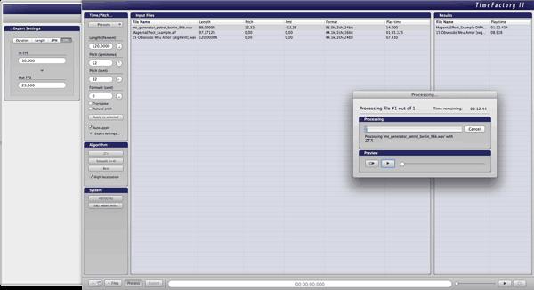 ZYNAPTIQ TIME FACTORY interface