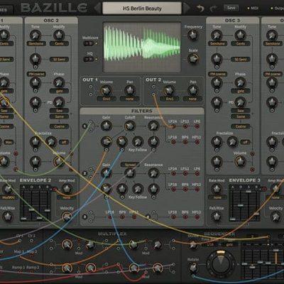 u-He Bazille Large Digital Modular Synthesis interface