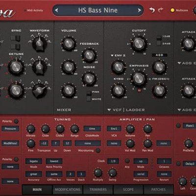 u-he Software u-He Diva interface